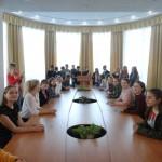 Екскурсія бібліотекою учнів 11 класів Полтавського обласного наукового ліцею 2-3 ступенів ім. А. Макаренка